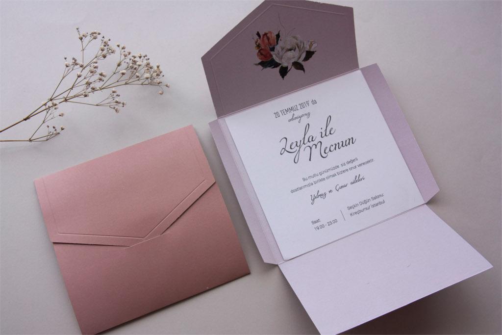 pudra renkli davetiye