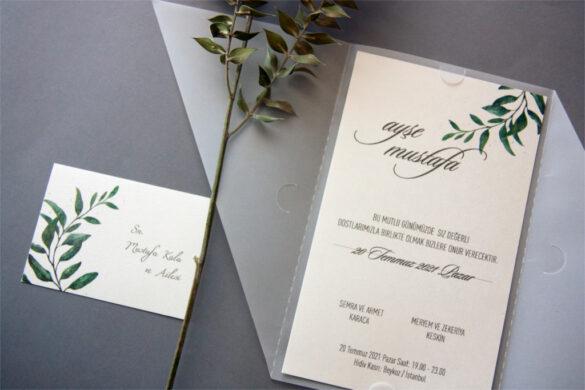 isim kartlı davetiye